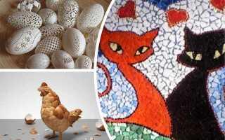 Вироби з шкаралупи яєць. Що можна зробити з дітьми до Великодня і на Новий рік + трафарети