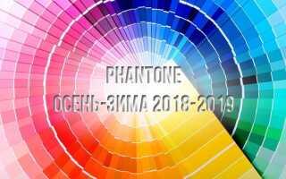 Модні кольори сезону осінь-зима 2018-2019 Пантон | фото