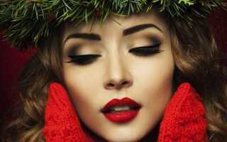 Новорічний макіяж 2019   фото, на Новий рік