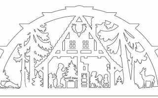 Витинанки (трафарети на вікна) на Новий 2020 год | сніжинки, шаблони, роздрукувати