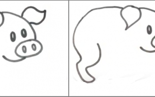 Як намалювати свиню на Новий 2019 год   малюємо жовту свинку