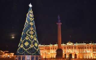Палацова площа на Новий 2019 год | Новорічна ніч