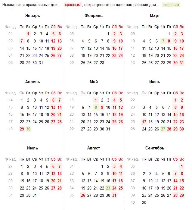 Україна виробничий календар 2019